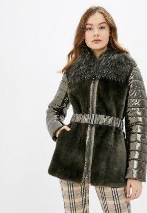 Куртка утепленная Madeleine. Цвет: хаки