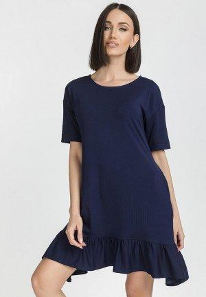 Платье Gloss. Цвет: синий