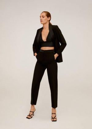 Прямые костюмные брюки - Smoking Mango. Цвет: черный