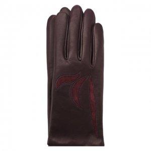 Кожаные перчатки Agnelle. Цвет: фиолетовый