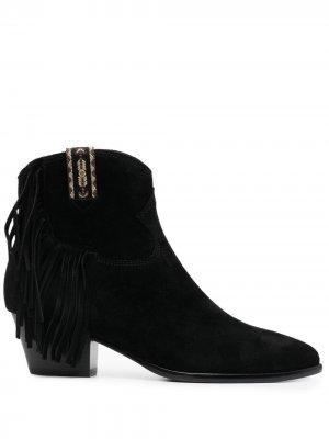 Ботинки с бахромой ASH. Цвет: черный