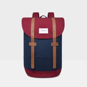 Рюкзак STIG, 14 л, специально для ноутбука 13 SANDQVIST. Цвет: синий/бордовый