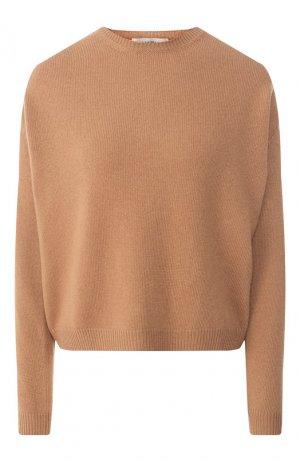 Пуловер из смеси шерсти и кашемира Valentino. Цвет: коричневый