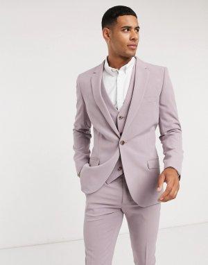 Супероблегающий пиджак -Фиолетовый цвет ASOS DESIGN