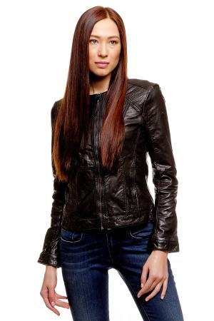 Кожаная куртка POLO TEAM 372187400732999 TOM TAILOR. Цвет: черный