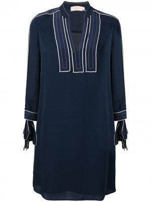 Платье-туника прямого кроя Tory Burch. Цвет: синий