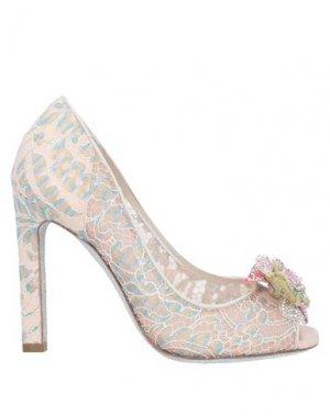 Туфли RENE' CAOVILLA. Цвет: пудровый