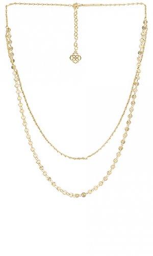 Ожерелье sydney Kendra Scott. Цвет: металлический золотой