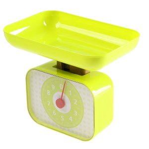 Весы кухонные luazon lvkm-1001, механические, до 10 кг, чаша 1200 мл, зелёные Home