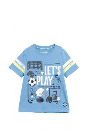 Футболка LEMON. Цвет: голубой