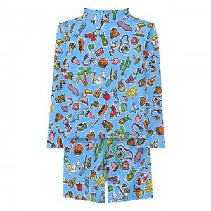 Комплект для плавания из лонгслива и шорт Stella McCartney. Цвет: синий