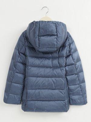 Стеганая куртка с капюшоном Alessandro Manzoni Kids. Цвет: goluboy