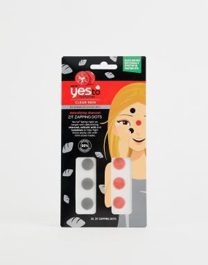 Точечное детокс-средство для уменьшения воспалений с активированным углем Yes to Tomatoes Zit Zapping Dots-Бесцветный