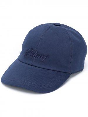 Бейсболка с логотипом Brioni. Цвет: синий