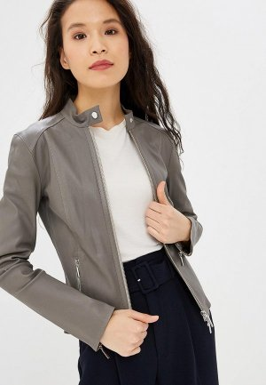 Куртка кожаная Arma. Цвет: серый