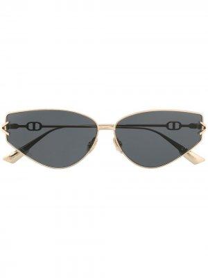 Солнцезащитные очки DiorGypsy2 в оправе кошачий глаз Dior Eyewear. Цвет: золотистый