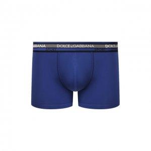 Хлопковые боксеры Dolce & Gabbana. Цвет: синий