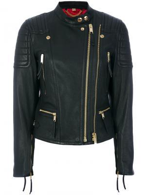 Байкерская куртка Burberry. Цвет: чёрный
