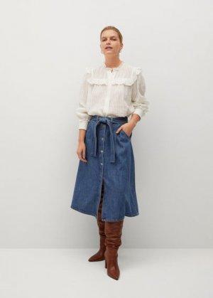 Джинсовая юбка-клеш - Lolita Mango. Цвет: синий средний