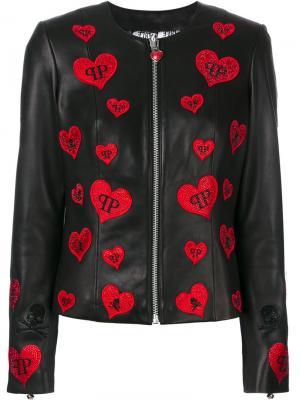 Heart patch jacket Philipp Plein. Цвет: чёрный