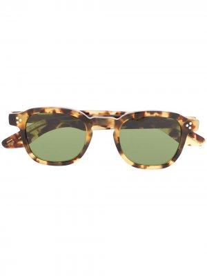 Tortoise-shell square sunglasses Moscot. Цвет: коричневый