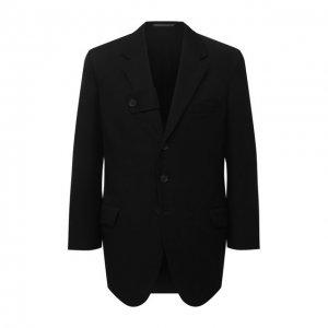 Шерстяной пиджак Yohji Yamamoto. Цвет: чёрный