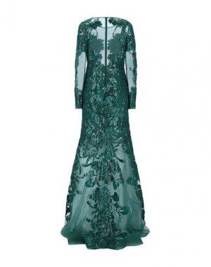 Длинное платье JOVANI. Цвет: темно-зеленый