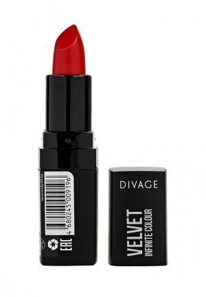 Помада Divage матовая Velvet № 06. Цвет: красный