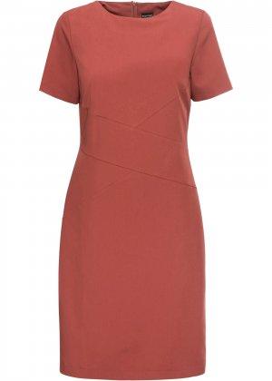 Платье-футляр bonprix. Цвет: красный