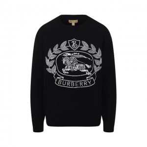 Шерстяной пуловер Burberry. Цвет: чёрный