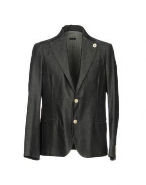 Пиджак (+) PEOPLE. Цвет: стальной серый