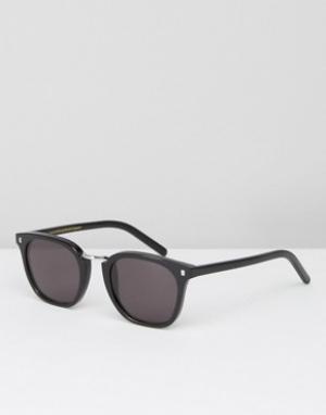 Черные квадратные солнцезащитные очки Monokel Ando Eyewear. Цвет: черный
