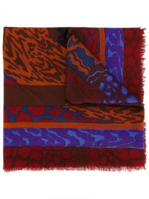 Шарф с абстрактным принтом Jean Louis Scherrer Pre-Owned. Цвет: разноцветный