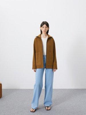 Куртка Элиста с большими карманами GATE31. Цвет: светло-коричневый