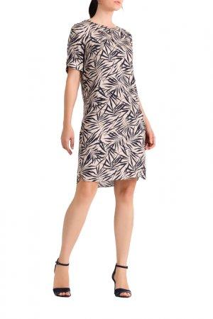 Платье Apart. Цвет: бежевый, темно-синий