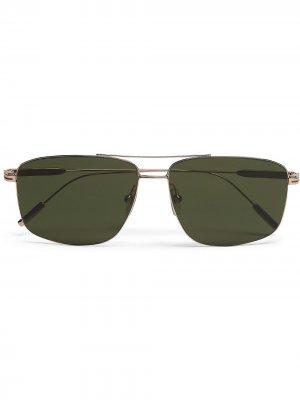 Солнцезащитные очки-авиаторы Leggerissimo Ermenegildo Zegna. Цвет: зеленый