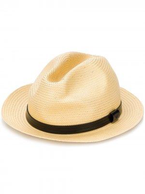 Шляпа-федора с логотипом Emporio Armani. Цвет: нейтральные цвета
