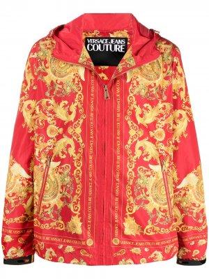 Ветровка с принтом Barocco Versace Jeans Couture. Цвет: красный