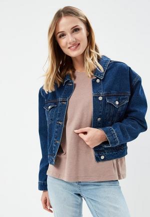 Куртка джинсовая 12storeez. Цвет: синий