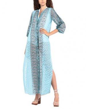 Пляжное платье AGOGOA. Цвет: небесно-голубой