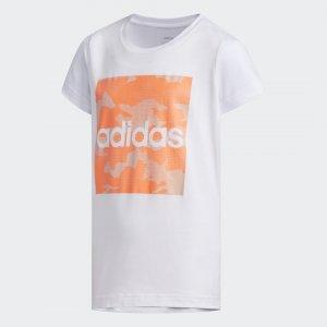 Футболка Camouflage Performance adidas. Цвет: белый
