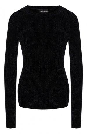 Пуловер из вискозы Giorgio Armani. Цвет: темно-синий