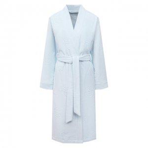 Хлопковый халат Louis Feraud. Цвет: синий