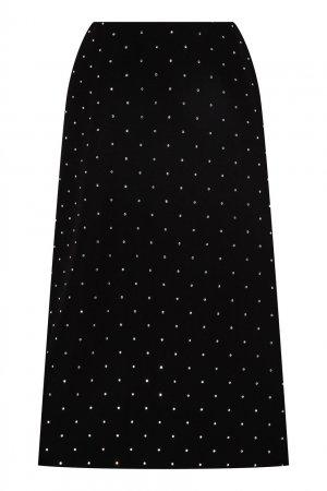 Черная юбка миди со стразами Balenciaga. Цвет: черный
