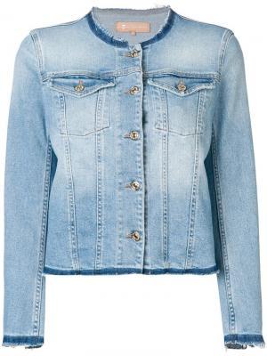 Джинсовая куртка с круглым вырезом 7 For All Mankind. Цвет: синий