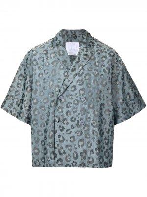 Двубортный пиджак из коллаборации с Secallenyang Off Duty. Цвет: синий