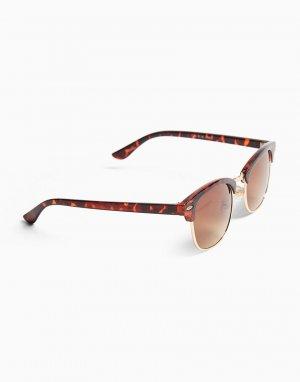 Классические очки в квадратной черепаховой оправе -Коричневый цвет Topman