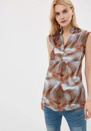 Блуза impressmama. Цвет: серый