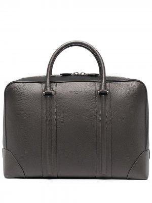 Сумка для ноутбука с тисненым логотипом Givenchy. Цвет: серый