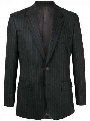 Пиджак в тонкую полоску Gieves & Hawkes. Цвет: серый
